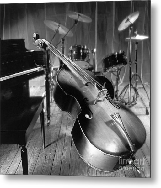 Bass Fiddle Metal Print