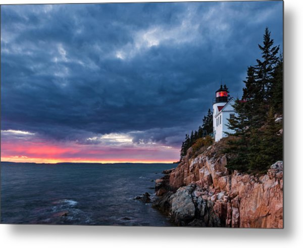 Bass Harbor Attitude Metal Print