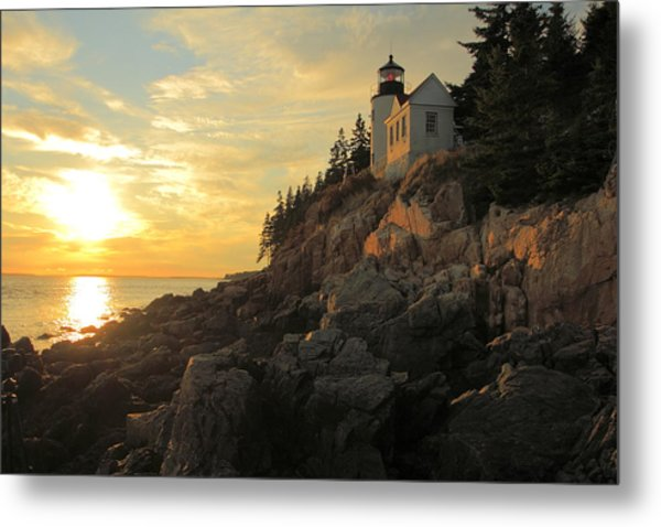 Bass Harbor Head Lighthouse Maine Usa Metal Print