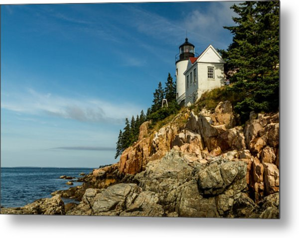 Bass Harbor Light Metal Print