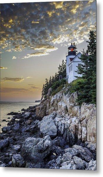 Bass Harbor Light House Metal Print