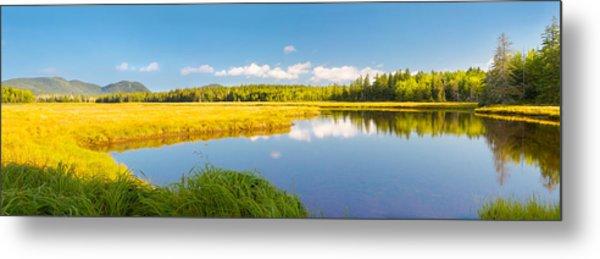 Bass Harbor Marsh Panorama Acadia National Park Photograph Metal Print