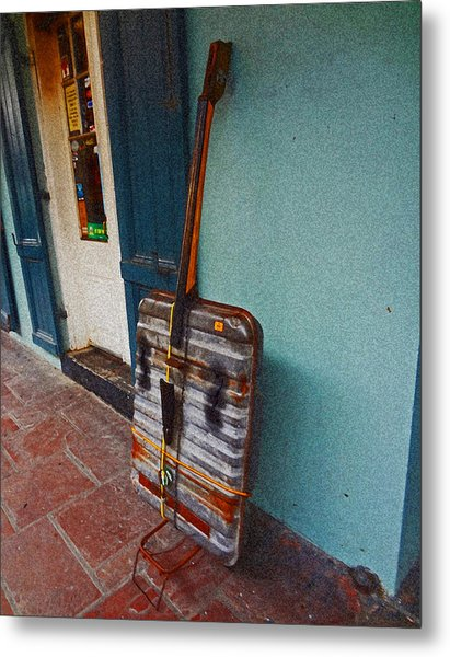 Bass Improvisation In New Orleans Metal Print