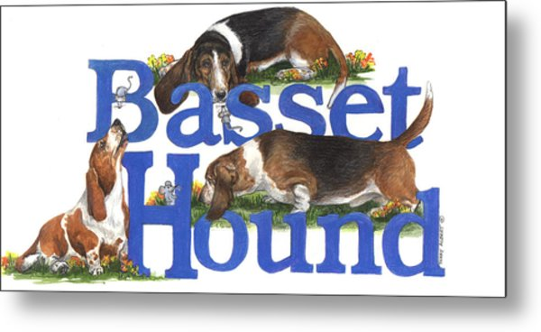 Basset Hounds Metal Print