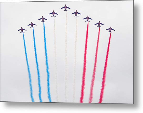 Bastille Day Air Show At The Champs-elysees Metal Print
