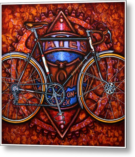 Bates Bicycle Metal Print