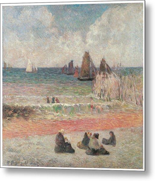 Bathers At Dieppe Metal Print by Paul Gauguin
