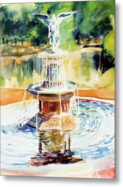 Bathesda Fountain Metal Print