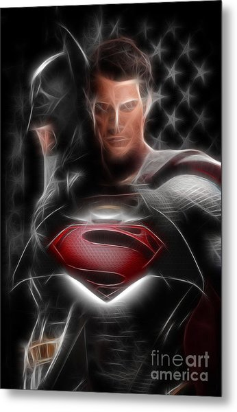 Batman Vs Superman  Metal Print