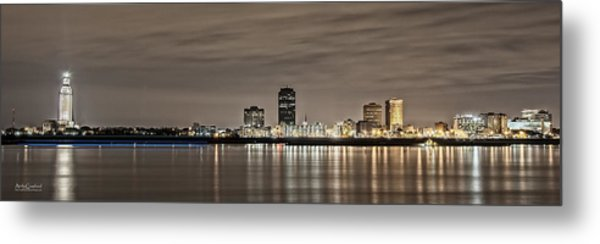 Baton Rouge Skyline Metal Print