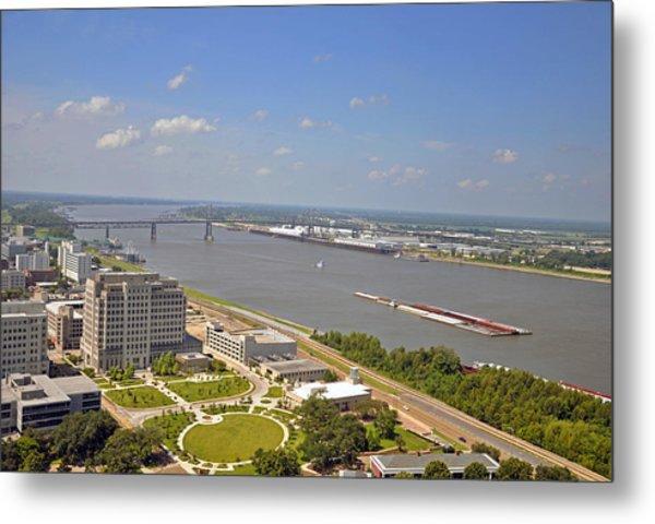 Baton Rouge's Mississippi River Metal Print