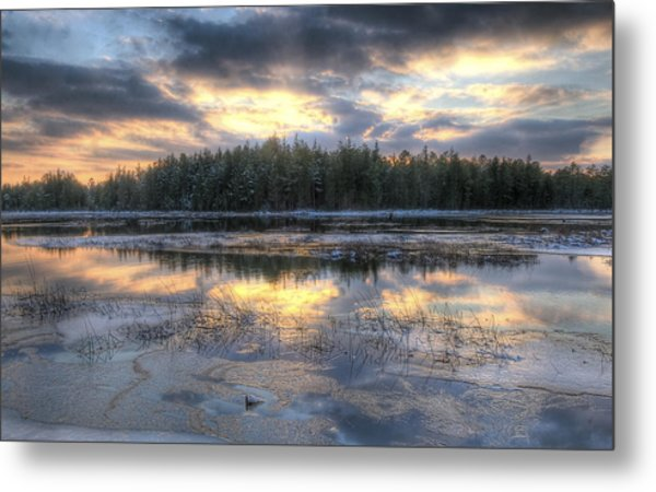 Batsto Lake Sunset1 Metal Print