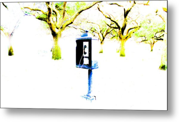 Battery Payphone Metal Print by Philip Zion