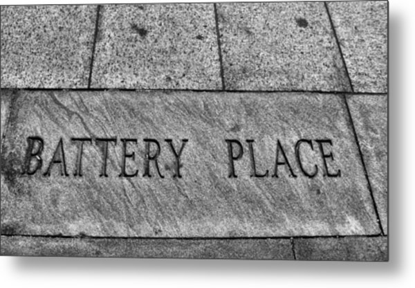 Battery Place Metal Print