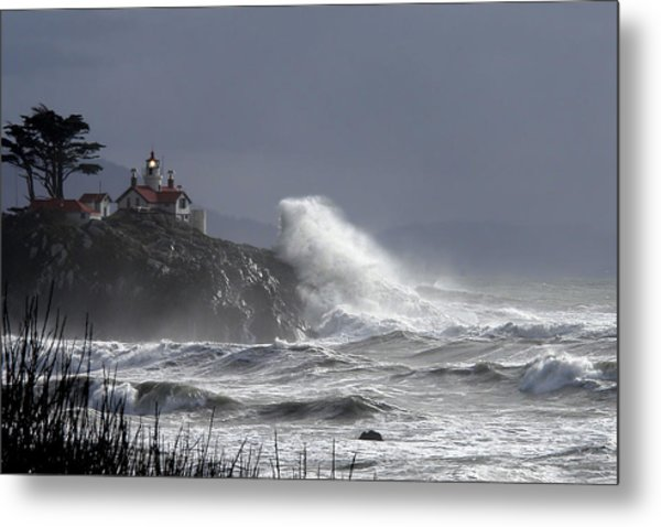 Battery Point Storm Metal Print
