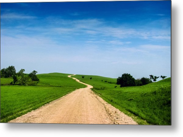 Battle Creek Road From The Saddle Metal Print