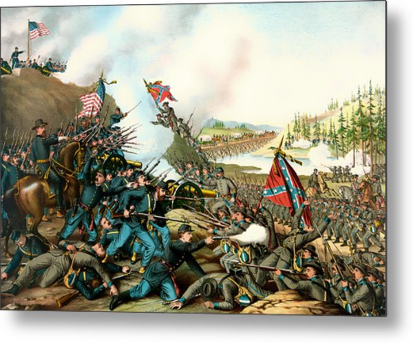 Battle Of Franklin Tennessee 1864 Metal Print