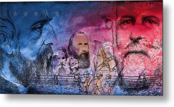 Metal Print featuring the painting Battle Of Gettysburg Tribute Day One by Joe Winkler