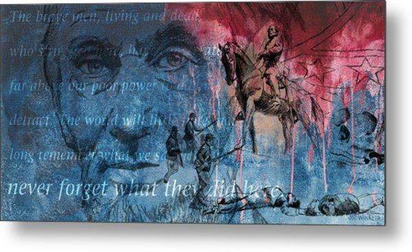 Battle Of Gettysburg Tribute Day Three Metal Print