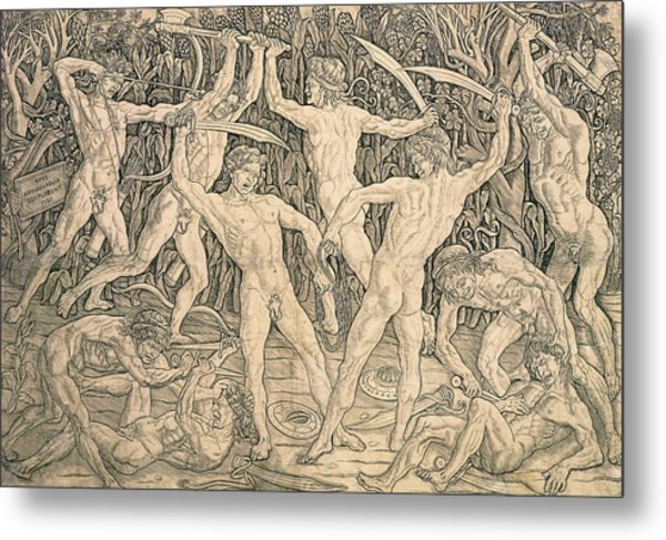 Battle Of The Nudes Metal Print