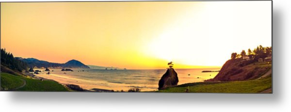 Battle Rock Panoramic Metal Print