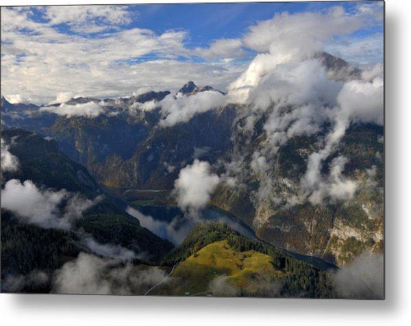 Bavarian Alps At Lake Konigssee Metal Print