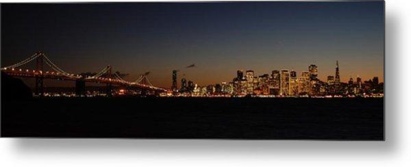 Bay Bridge And City Skyline Metal Print