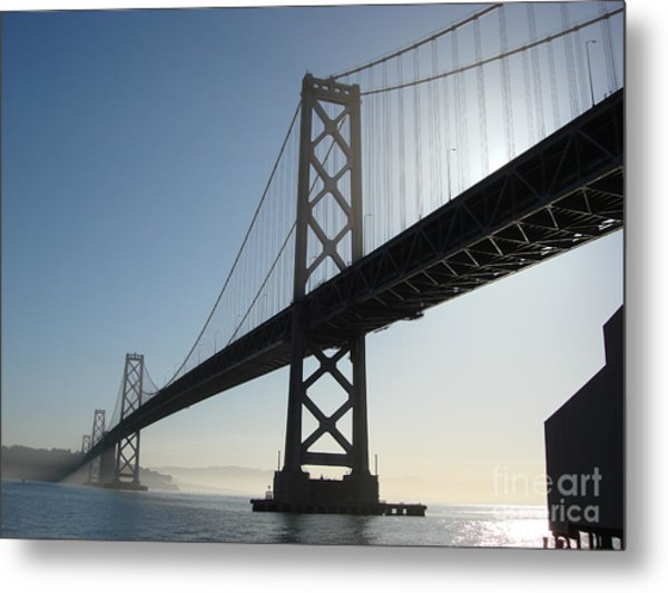 Bay Bridge Morning Metal Print by Mark Etchason