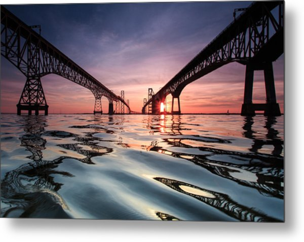 Bay Bridge Reflections Metal Print