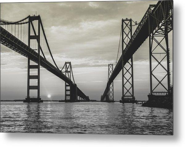Bay Bridge Strong Metal Print