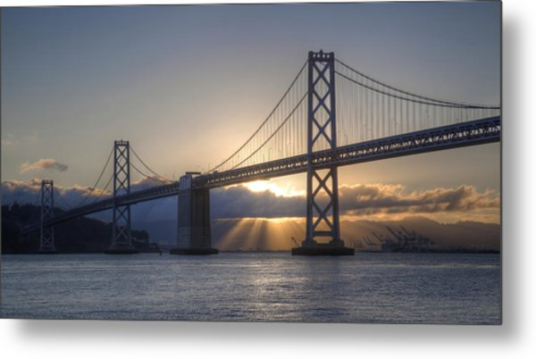 Bay Bridge Sunrise Metal Print