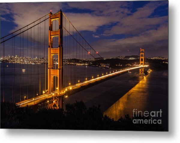 Bay Lights Metal Print