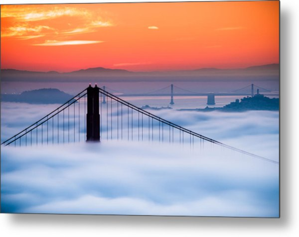 Bay Sunrise Metal Print