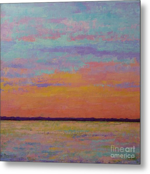 Bay Sunset Metal Print