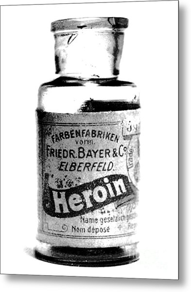 Bayer Company Sells Heroin Around 1900 Metal Print