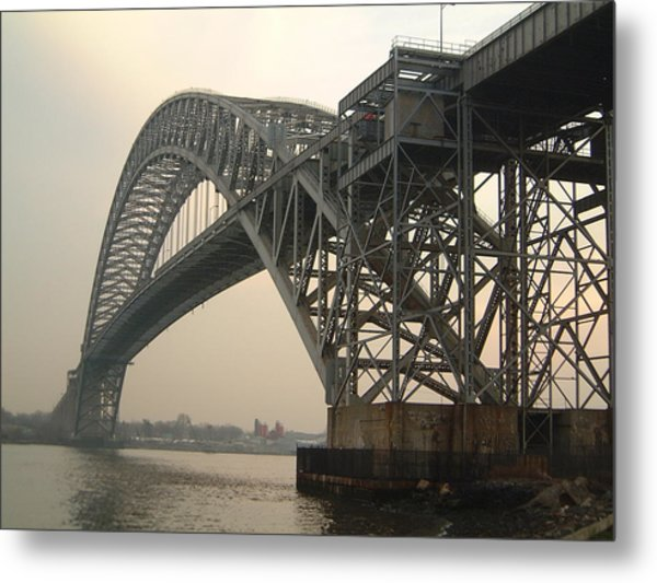 Bayonne Bridge Metal Print by Wayne Gill