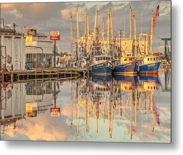Bayou La Batre' Al Shrimp Boat Reflections 39 Metal Print