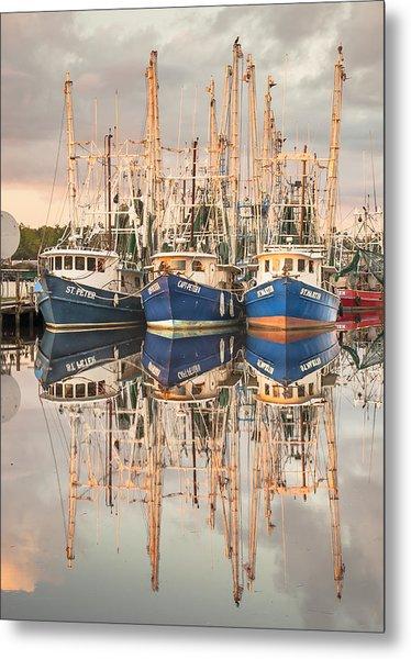 Bayou La Batre' Al Shrimp Boat Reflections 41 Metal Print