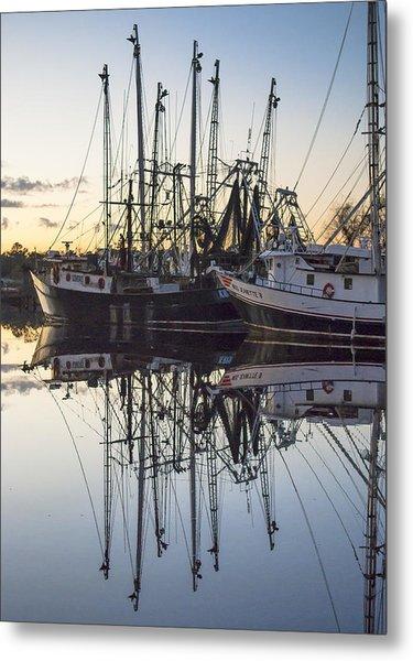 Bayou La Batre' Al Shrimp Boat Reflections 43 Metal Print
