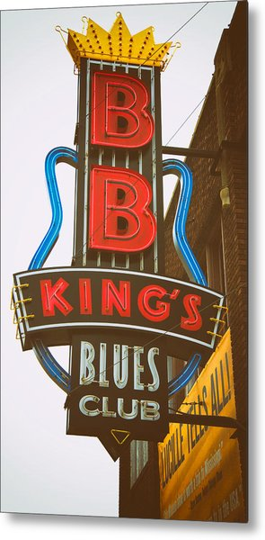 Metal Print featuring the photograph Bb King's Blues Club by Mary Lee Dereske