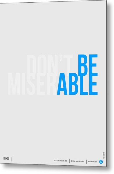 Be Able Poster Metal Print