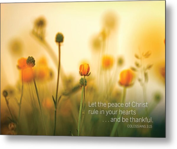 Be Thankful Metal Print