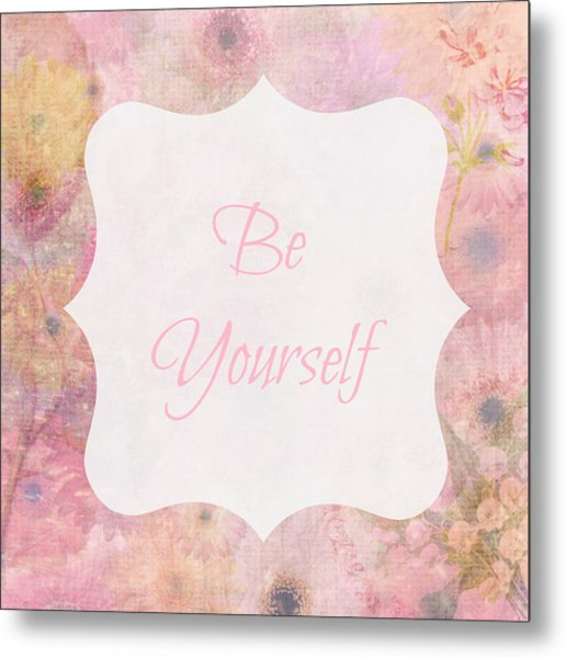 Be Yourself Daisies Metal Print