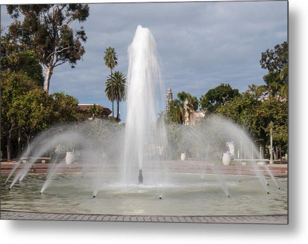 Bea Evenson Fountain In Balboa Park Metal Print