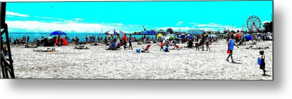 Beach And Carnival Metal Print