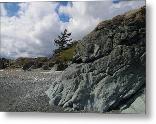 Beach At Fort Rodd Hill Metal Print