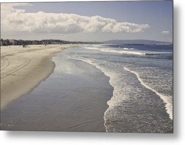 Metal Print featuring the photograph Beach At Santa Monica by Kim Hojnacki