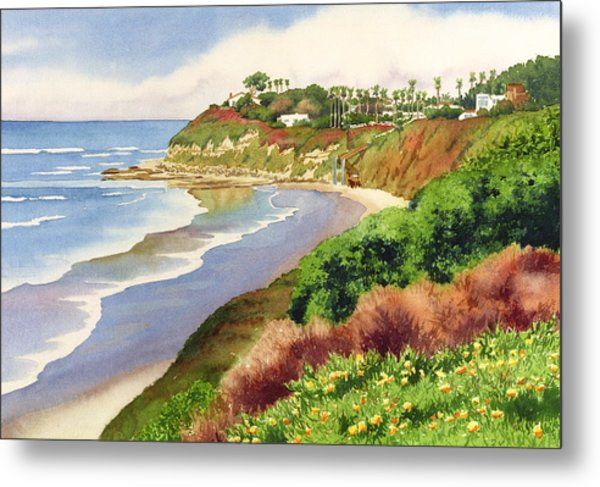 Beach At Swami's Encinitas Metal Print