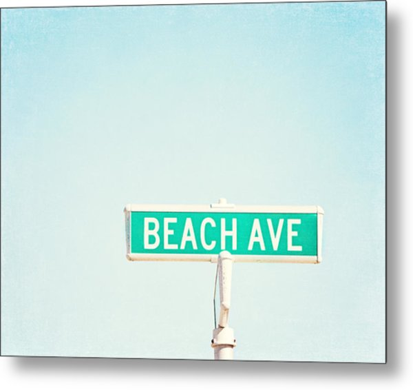 Beach Ave. Metal Print