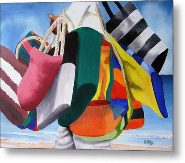 Beach Bag Vendor Metal Print